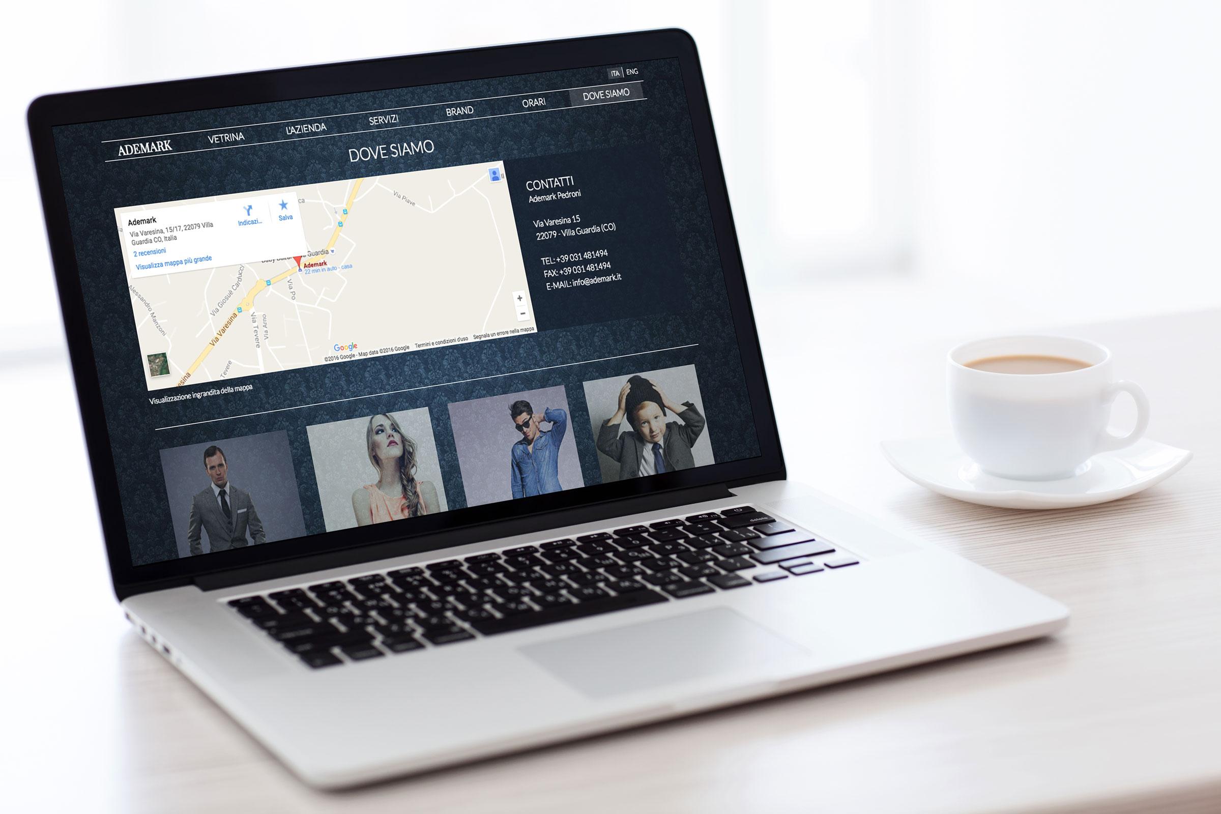 portale web ecommerce ademark responsive