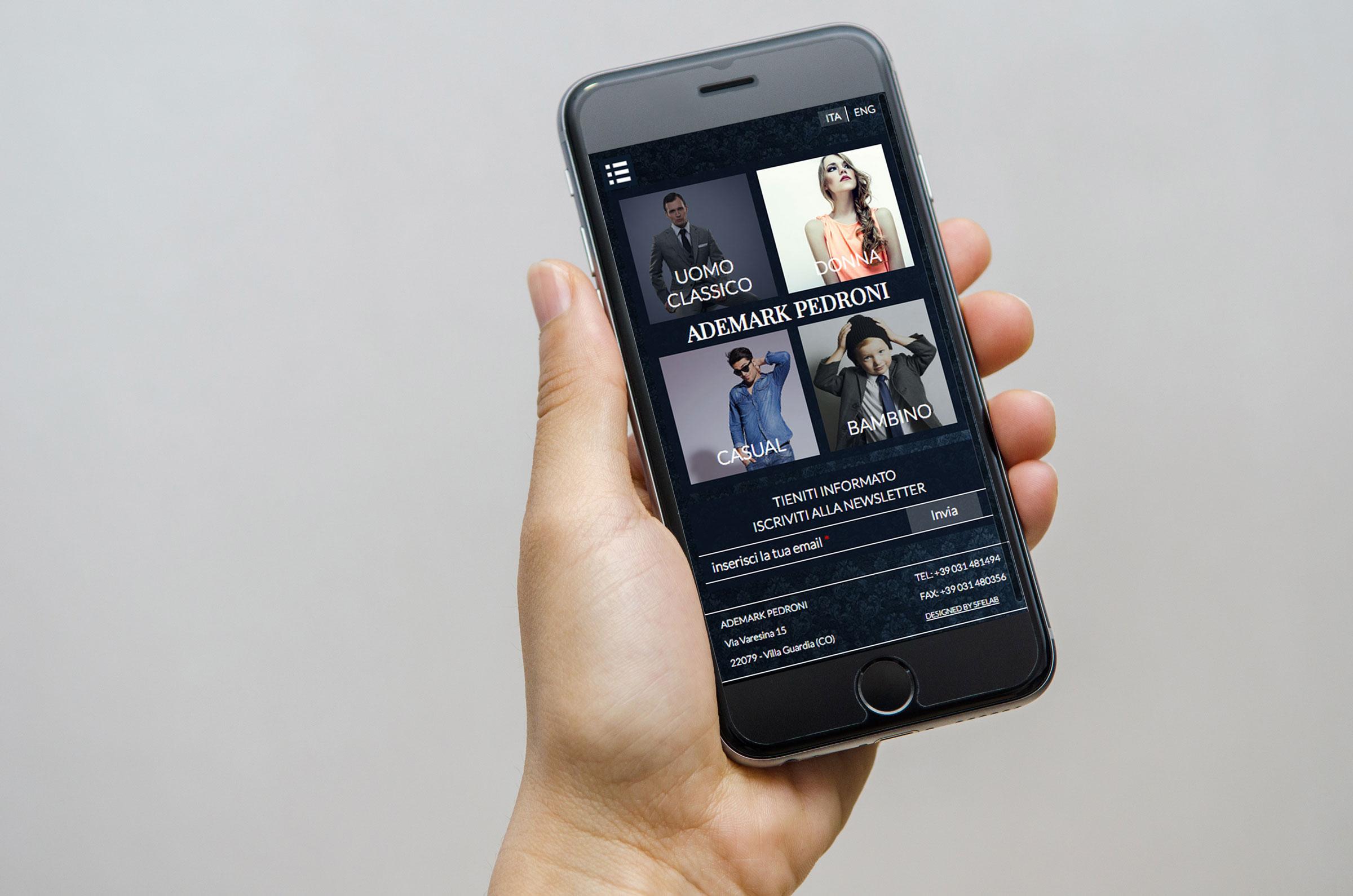 portale web ecommerce ademark mobile