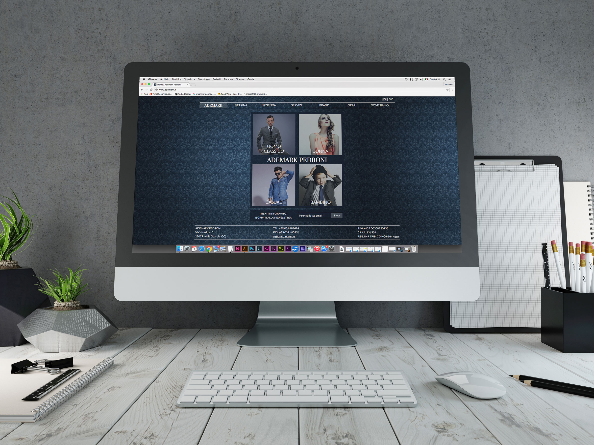 portale web ecommerce ademark homepage