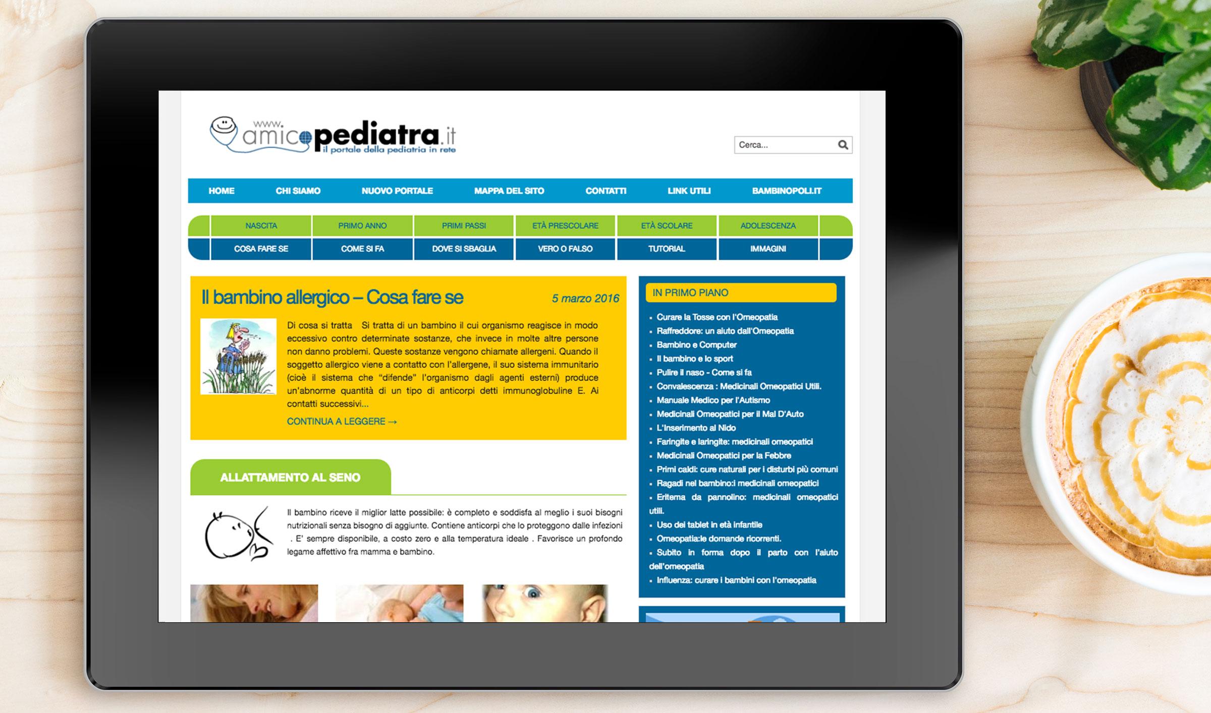 realizzazione sito responsive tablet homepage