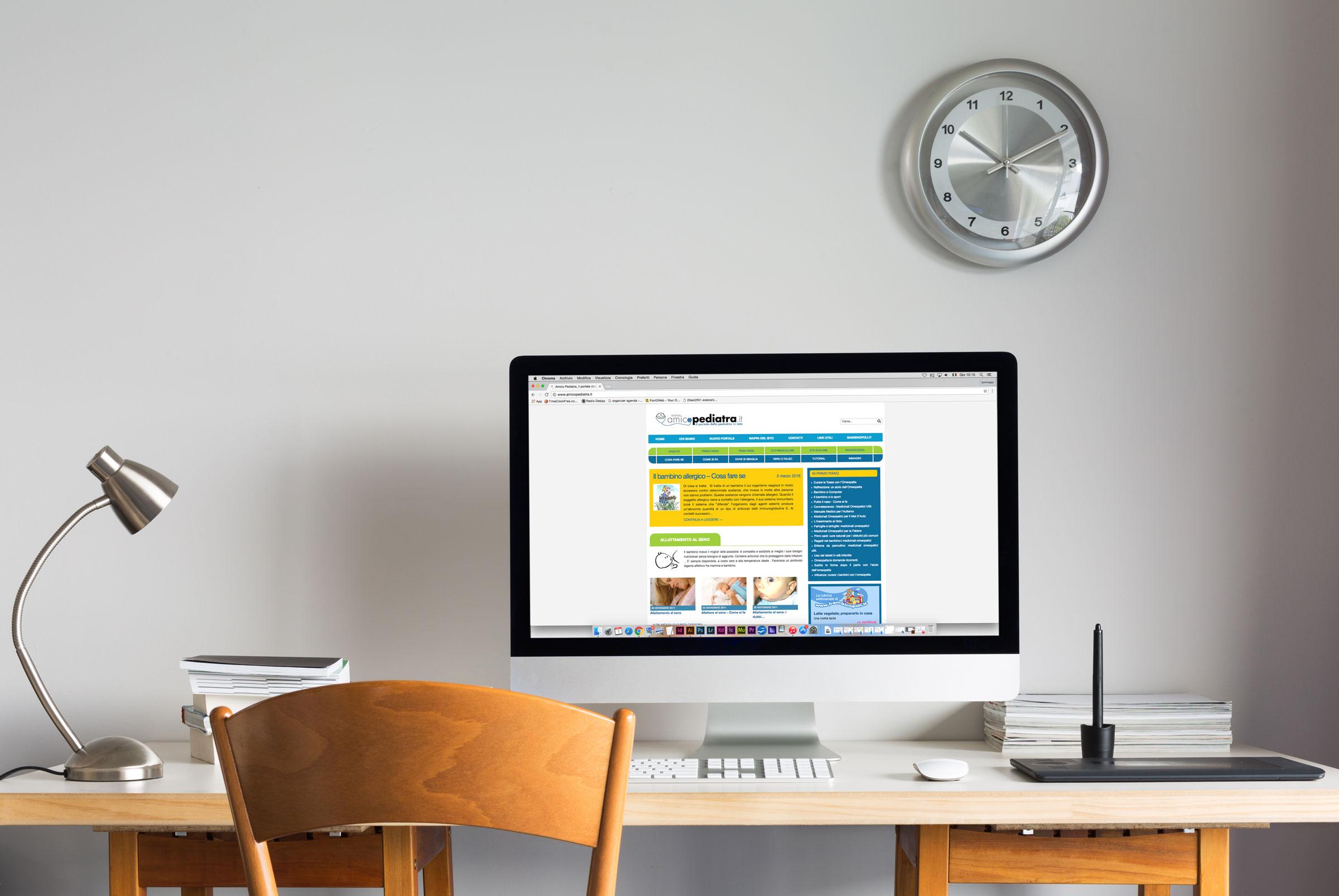 realizzazione sito responsive desktop homepage