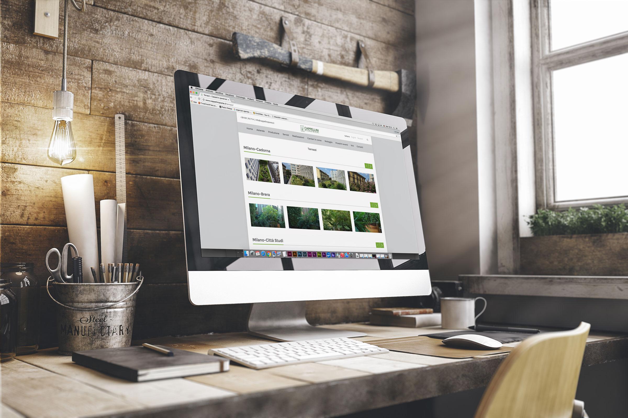 realizzazione sito web responsive desktop