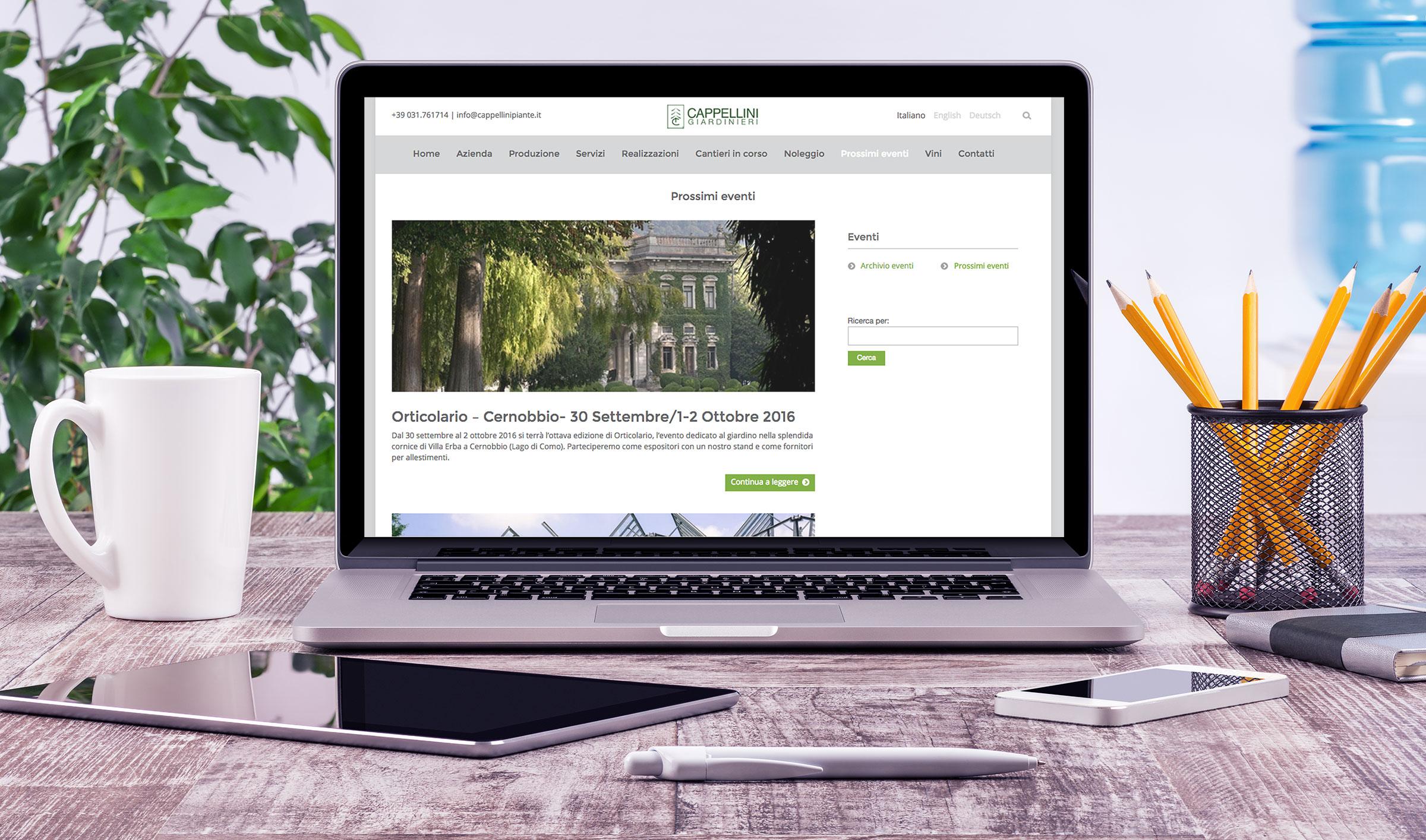 realizzazione sito web responsive homepage
