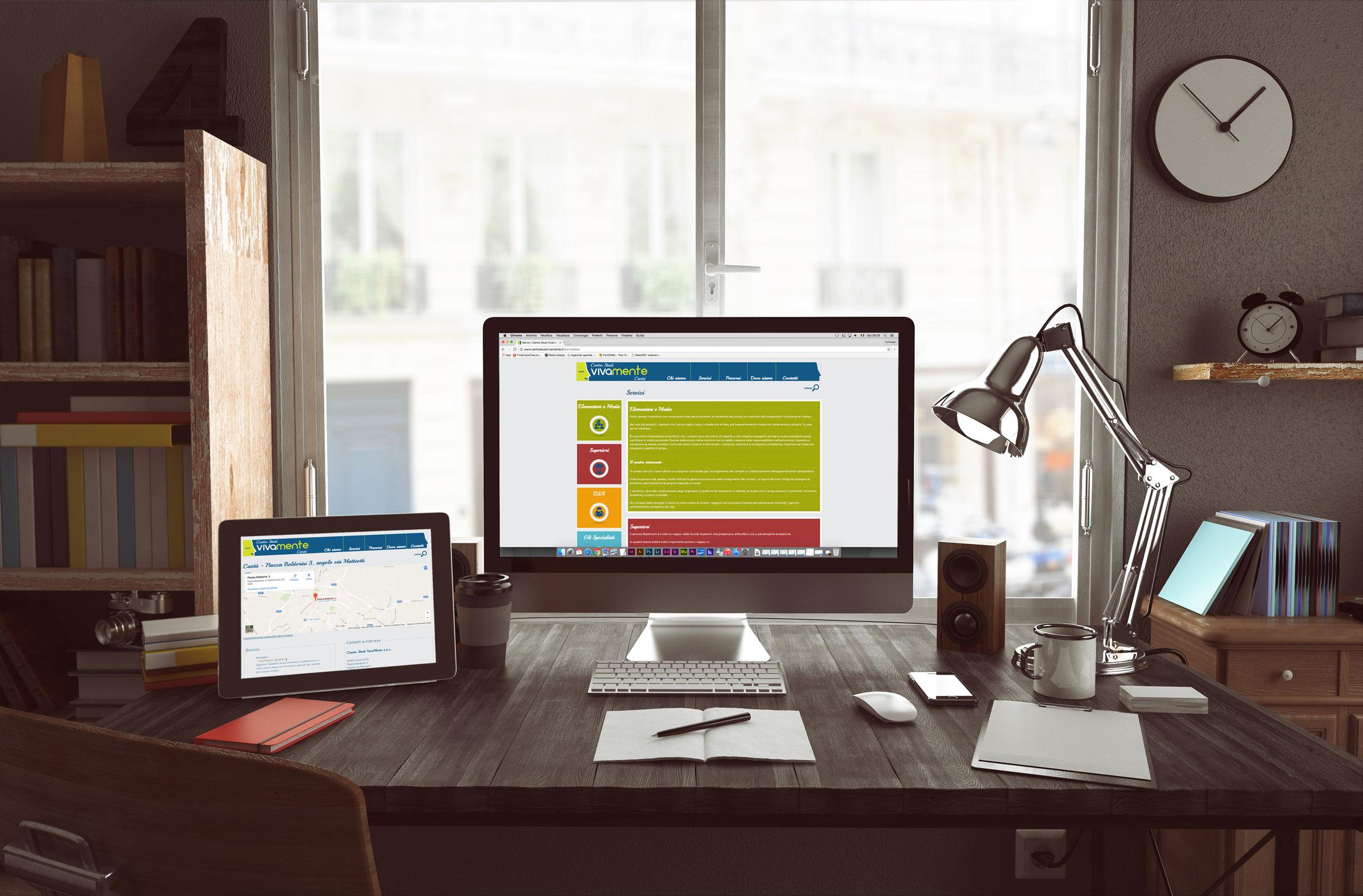 homepage portale internet responsive design
