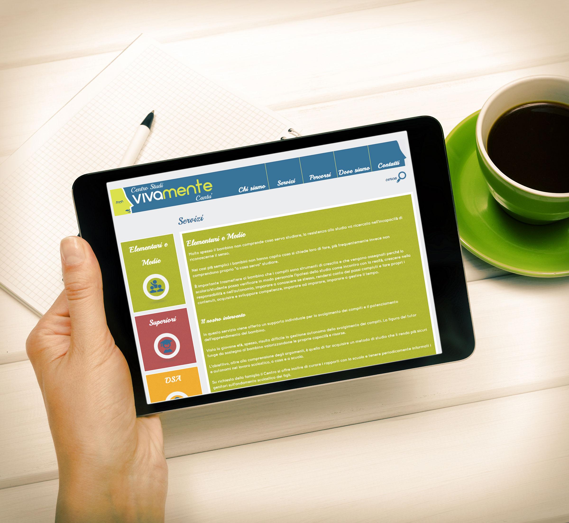 tablet portale internet responsive design