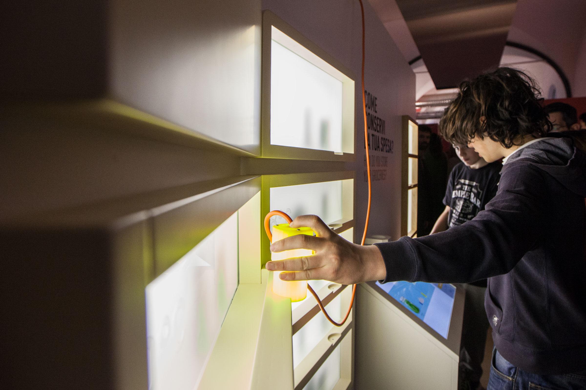installazione interattiva museo scienza tecnica milano