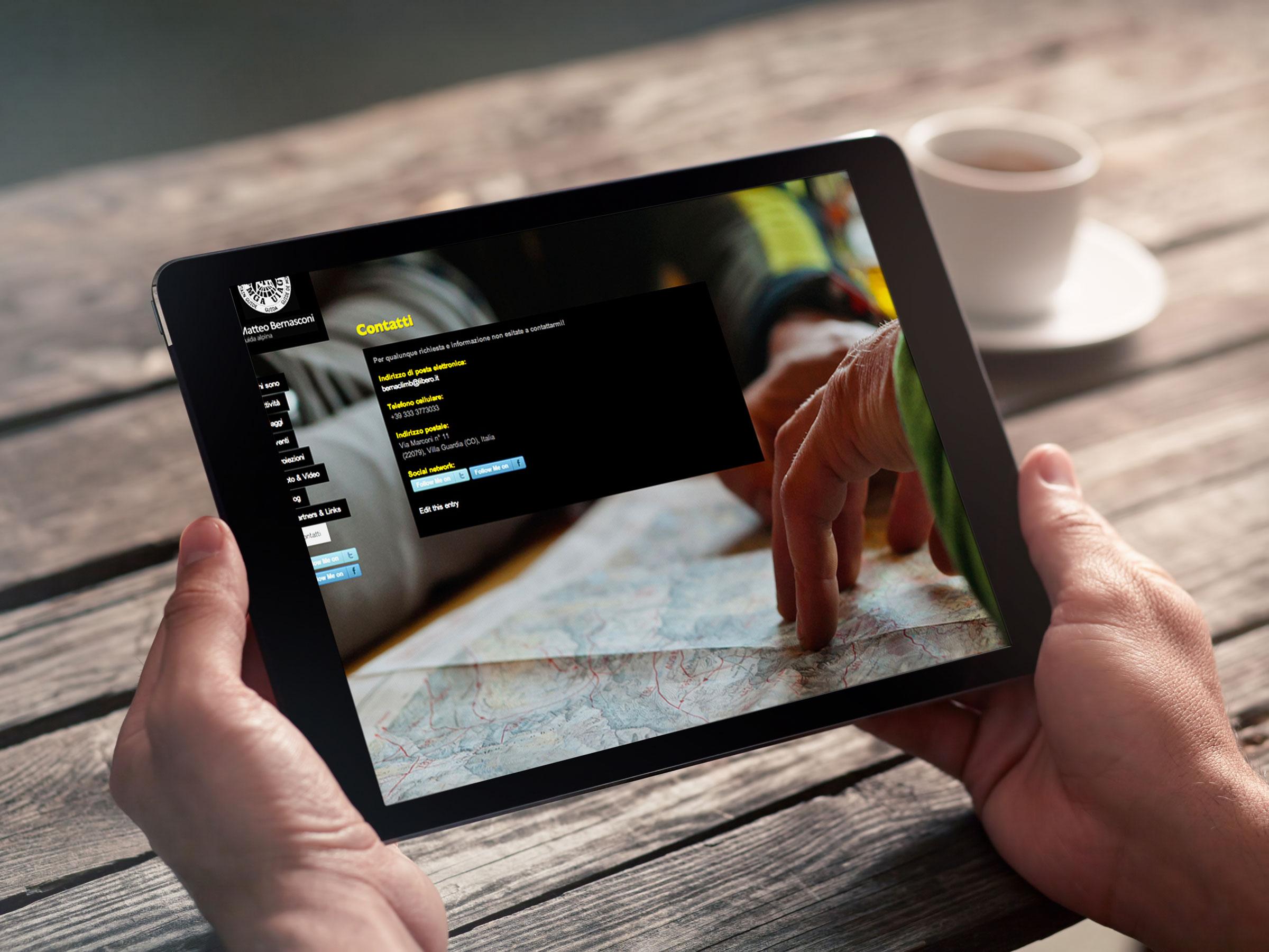 creazione sito internet tablet