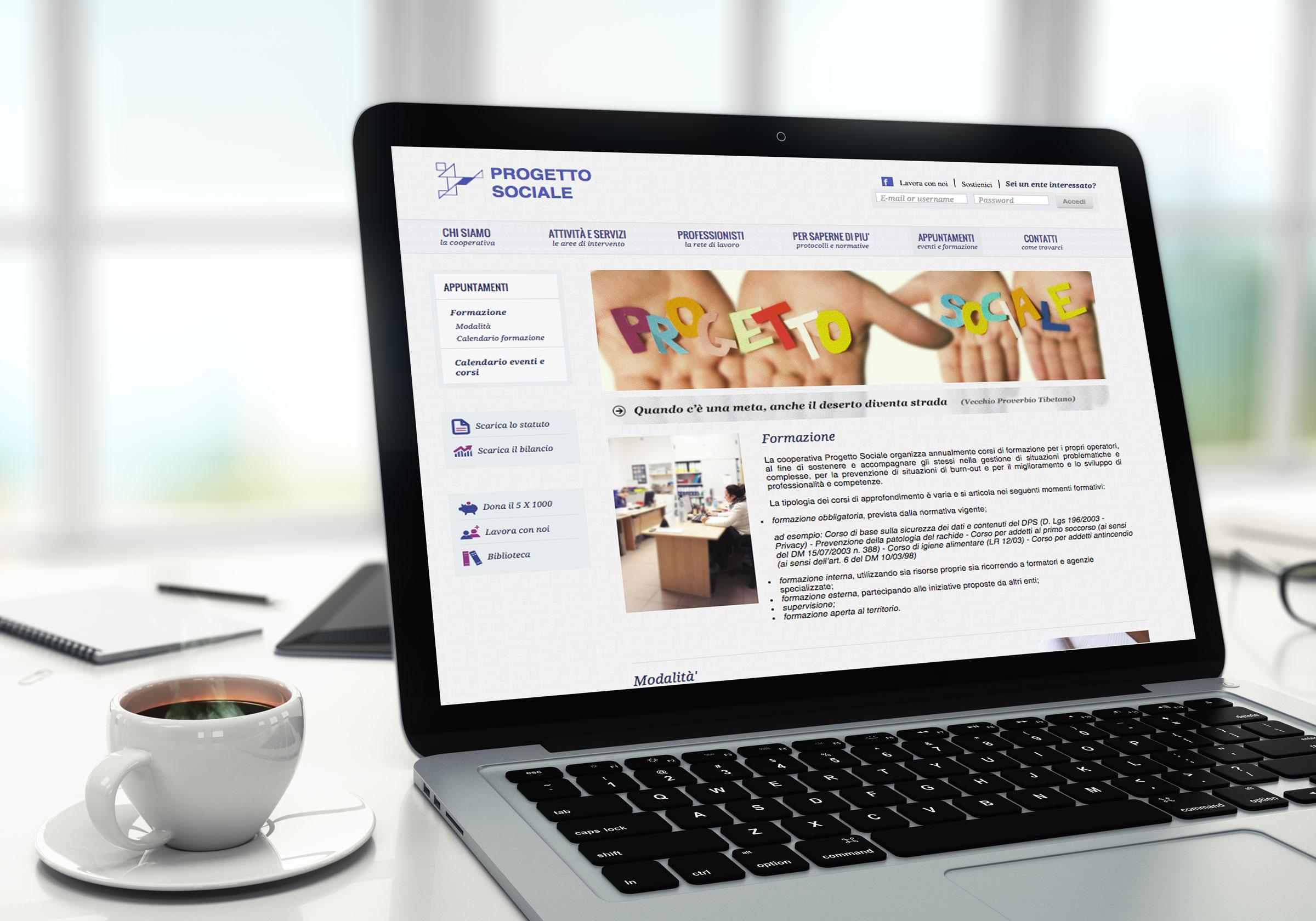 portale web progetto sociale