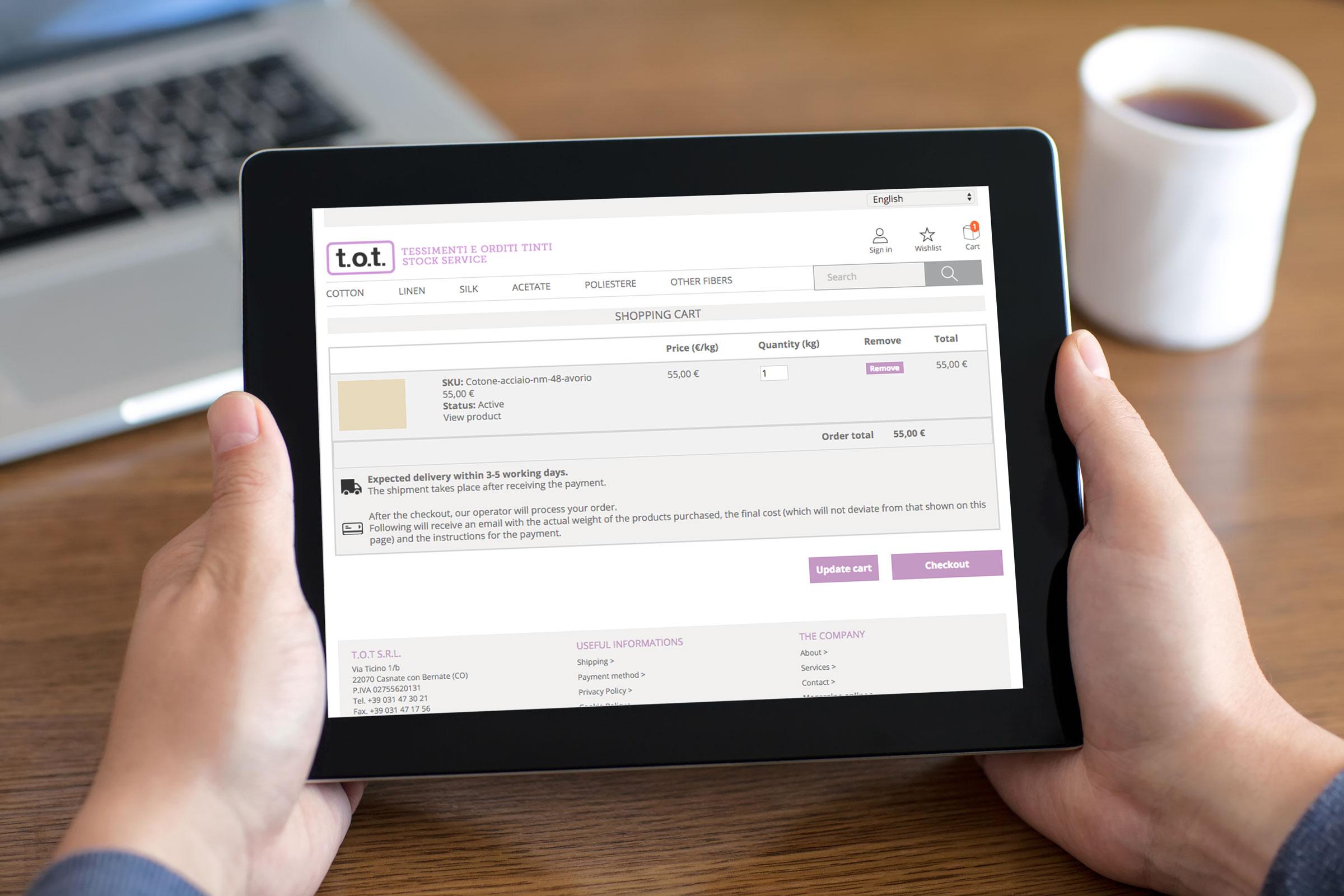 progettazione creazione sito internet tablet