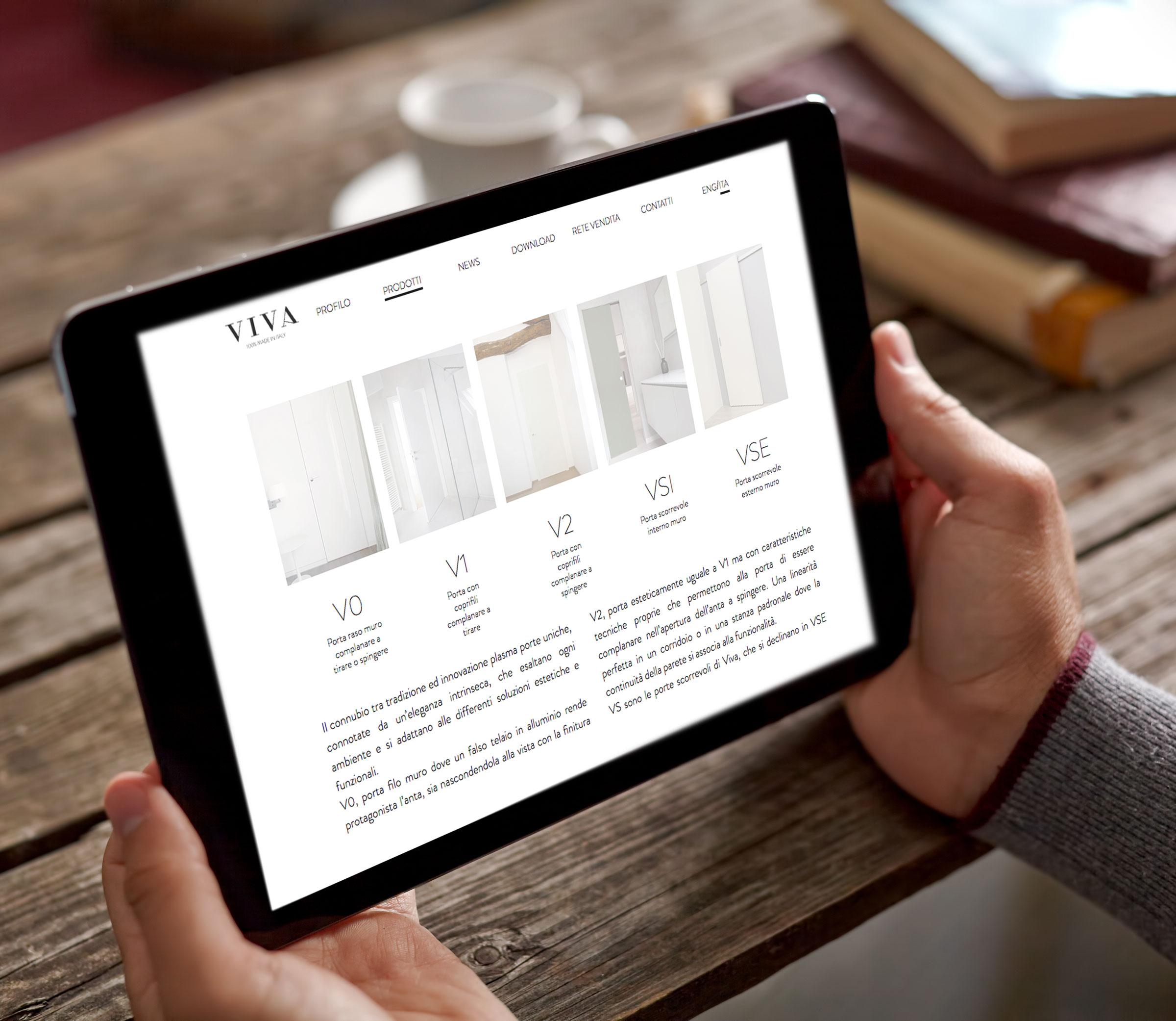 creazione sito internet vivaporte tablet